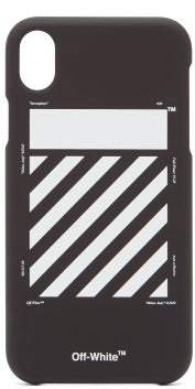 Off-White Off White Diagonal Line Carryover Iphone Xr Phone Case - Mens - Black