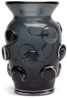 AERIN Abel Large Glass Vase - Blue