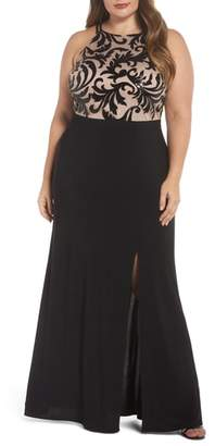 Morgan & Co. Sequin Bodice Gown
