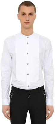 Balmain Cotton Poplin Shirt W/ Plastron