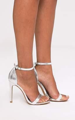 PrettyLittleThing Clover Gold Metallic Strap Heeled Sandals
