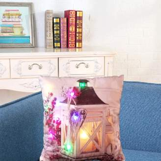 DZT1968 The New Color Lights Christmas Pillow LED Lights Pillow Creative Printing LinenD