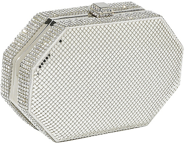 Whiting and Davis Crystal Octagon Minaudiere