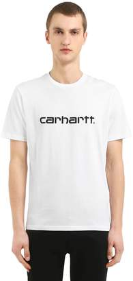 Carhartt Logo Printed Cotton Jersey T-Shirt