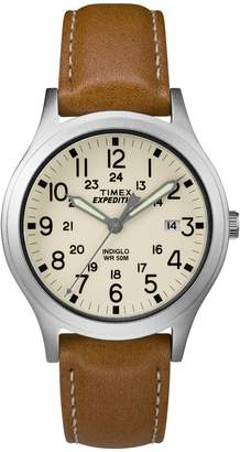 Timex Unisex Expedition Scout Tan Leather StrapAnalog Watch