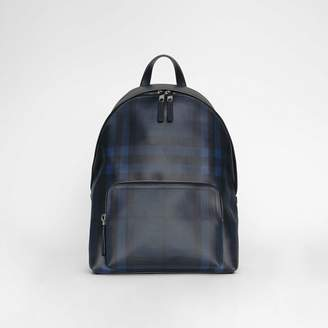 Burberry Leather Trim London Check Backpack
