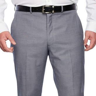 Jf J.Ferrar Blue Stretch Sheenskin Suit Pant Stretch Classic Fit Suit Pants - Big and Tall