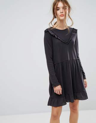 Leon and Harper Ruffle Mini Dress in Jersey