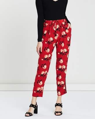 Miss Selfridge Floral Side Stripe Joggers