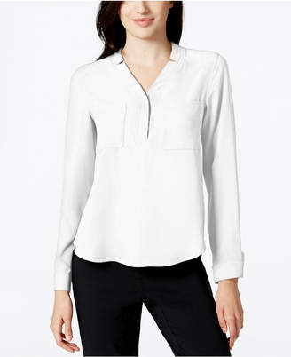 Nine West Notched-Collar Blouse