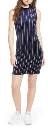 Fila USA Esme Pinstripe Velour Dress