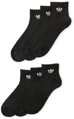 adidas 6-Pack Moisture Wicking Quarter Socks