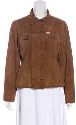 Façonnable Suede Long Sleeve Jacket