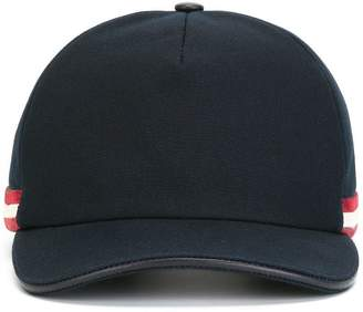 Bally contrast stripe baseball cap