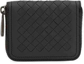 Bottega Veneta Mini Leather Zip Wallet