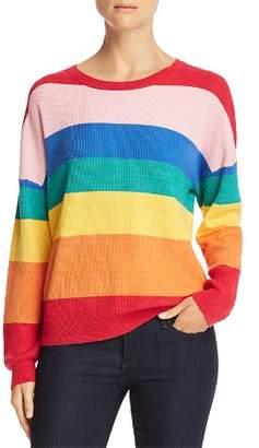 Honey Punch Rainbow Stripe Sweater