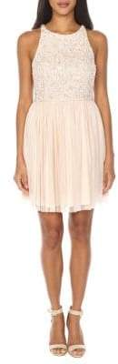 TFNC Picasso Sequin Embellished Chiffon Dress