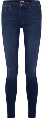 Mother Looker Mid-rise Skinny Jeans - Dark denim