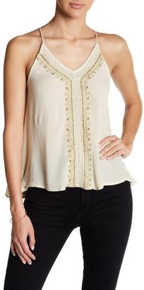 En Creme Embellished Strappy Shirt $48 thestylecure.com