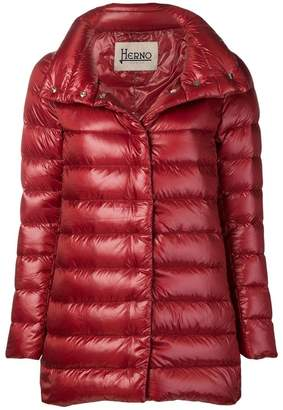 Herno straight-fit padded coat