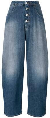 MM6 MAISON MARGIELA cropped palazzo jeans