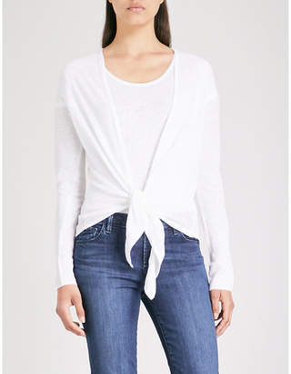 The White Company Knot front linen cardigan