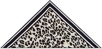 Claudie Pierlot Leopard Print Triangle Scarf