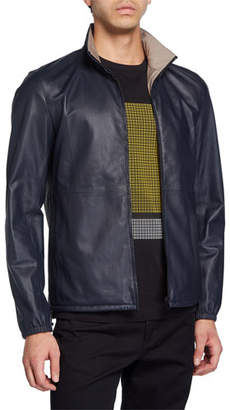 Theory Men's Nazal Packable Leather Jacket