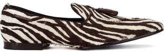 Raparo zebra stripe loafers