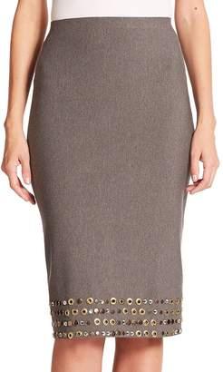 Donna Karan Women's Embellished Jersey Pencil Skirt