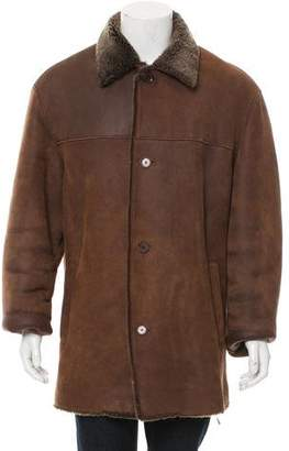 Andrew Marc Shearling-Lined Suede Coat