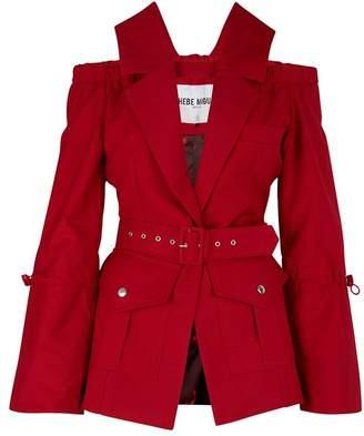 Thebe Magugu Bare-shouldered jacket