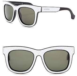 Balenciaga 53mm Crackled Retro Sunglasses