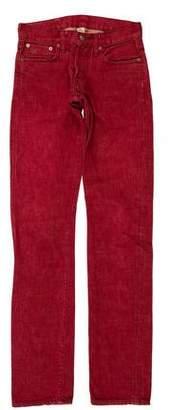 Co RRL & Mid-Rise Straight Leg Jeans