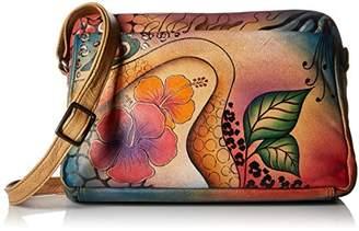 Anuschka Anna by Genuine Leather Satchel Organizer | Hand-Painted Original Artwork |