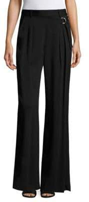 Alexander Wang T by Wide Leg Silk Trousers