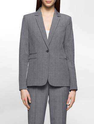Calvin Klein glen plaid suit jacket