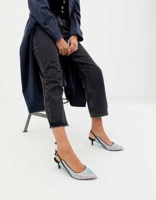 Asos Design DESIGN Sphynx slingback mid heels