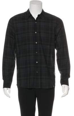 James Perse Plaid Button-Up Shirt