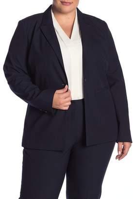 Halogen Ela Notch Collar Suit Jacket (Plus Size)