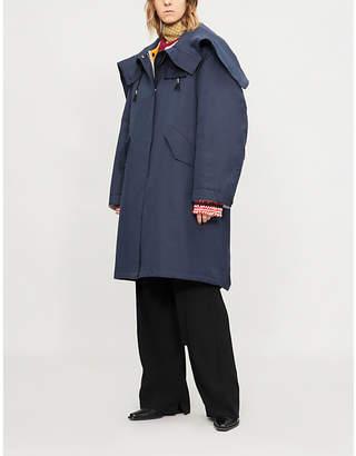 Calvin Klein Blanket cotton-silk parka coat