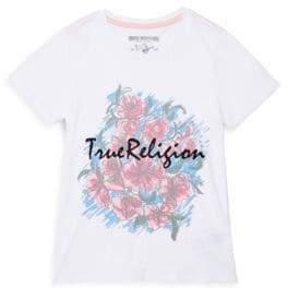 True Religion Little Girl's Sketch Flower Cotton Tee