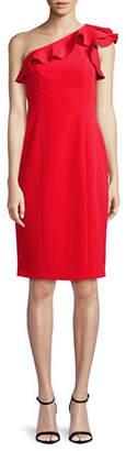 Eliza J One-Shoulder Midi Dress