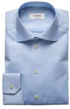 Eton Contemporary Fit Pattern Cotton Dress Shirt