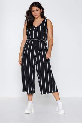 Nasty Gal Stripe Down to It Wide-Leg Jumpsuit