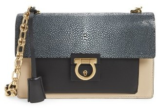 Salvatore Ferragamo Stingray Leather Crossbody Bag - None $2,300 thestylecure.com