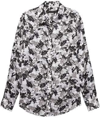 Banana Republic Dillon Classic-Fit Leaf Print Shirt