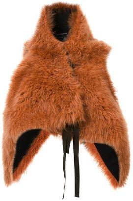 Ann Demeulemeester fur waistcoat $2,330 thestylecure.com