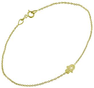 Jennifer Meyer Mini Hamsa Diamond Bracelet - Yellow Gold