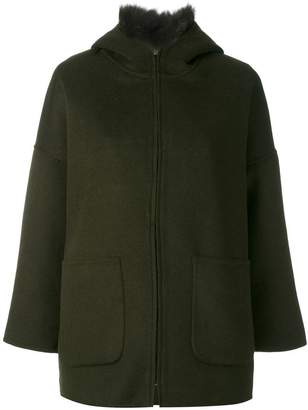 Liska hooded shearling jacket